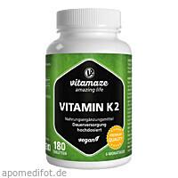 Vitamin K2 200 ug hochdosiert vegan, 180 ST, Vitamaze GmbH
