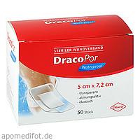 DRACOPOR waterproof Wundverband 5x7.2 cm steril, 50 ST, Dr. Ausbüttel & Co. GmbH