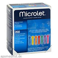 Microlet Lanzetten farbig, 200 ST, Docpharm Arzneimittelvertrieb GmbH & Co. KG Aa