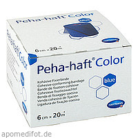 PEHA-HAFT Color Fixierbinde latexf.6 cmx20 m blau, 1 ST, B2b Medical GmbH