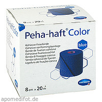 PEHA-HAFT Color Fixierbinde latexf.8 cmx20 m blau, 1 ST, B2b Medical GmbH