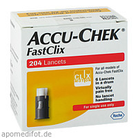 ACCU CHEK FastClix Lanzetten, 204 ST, Diaprax GmbH