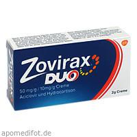 Zovirax Duo 50 mg/g / 10 mg/g, 2 G, GlaxoSmithKline Consumer Healthcare