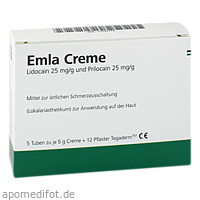 EMLA Creme + 12 Tegaderm Pflaster, 5X5 G, Eurimpharm Arzneimittel GmbH