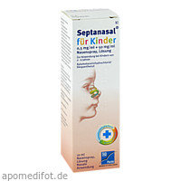 Septanasal für Kinder 0.5mg/ml+50mg/ml Nasenspray, 10 ML, TAD Pharma GmbH