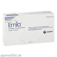 EMLA 25 mg/g + 25 mg/g Creme + 12 TEGADERM PFL, 5X5 G, Aspen Germany GmbH