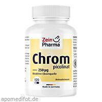 Chrompicolinat 250 ug in vegetarischen Kapseln, 120 ST, Zein Pharma - Germany GmbH