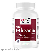 L-Theanin Natural Forte 500 mg ZeinPharma, 90 ST, Zein Pharma - Germany GmbH