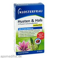 Klosterfrau Husten & Hals, 20 ST, MCM KLOSTERFRAU Vertr. GmbH
