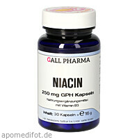 NIACIN 250MG GPH KAPSELN, 30 ST, Hecht-Pharma GmbH