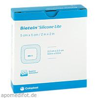 BIATAIN Silicone Lite Schaumverband 5x5 cm, 5 ST, B2b Medical GmbH