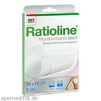 Ratioline Wundverband 15x10 cm steril, 5 ST, Lohmann & Rauscher GmbH & Co. KG