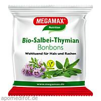 MEGAMAX Bio Salbei-Thymian Bonbon, 85 G, Megamax B.V.