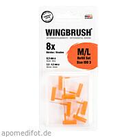 WINGBRUSH Refill Set interdental.ISO 3Medium/Large, 8 ST, Imp GmbH International Medical Products