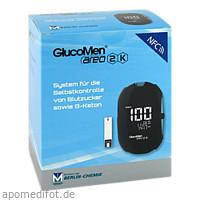 GlucoMen areo 2K meter set (mg/dL), 1 ST, Berlin-Chemie AG
