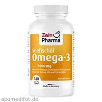 Omega 3 1000 mg - Seefischöl Softgelkapseln Hochdo, 140 ST, Zein Pharma - Germany GmbH