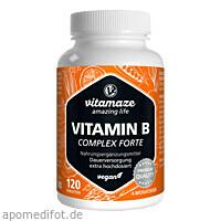 Vitamin B-Complex extra hochdosiert vegan, 120 ST, Vitamaze GmbH