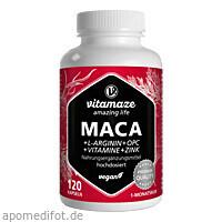Maca 10:1 hochdosiert + L-Arginin+OPC+Vit. Vegan, 120 ST, Vitamaze GmbH