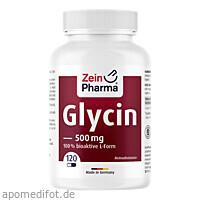 Glycin 500 mg in veg. HPMC Kapseln Zein Pharma, 120 ST, Zein Pharma - Germany GmbH