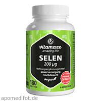 Selen 200 ug hochdosiert vegan, 180 ST, Vitamaze GmbH