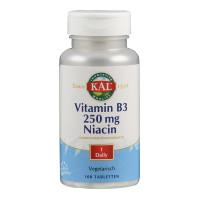Vitamin B 3 Niacin 250 mg, 100 ST, Supplementa Corporation B.V.