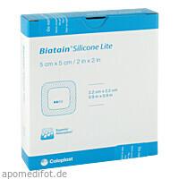 Biatain Silicone Lite Schaumverband 5x5 cm, 5 ST, kohlpharma GmbH