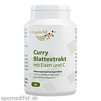 Curry Blattextrakt mit Eisen und C, 90 ST, Vita World GmbH