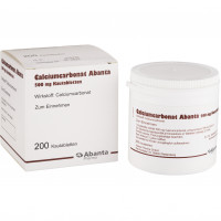 Calciumcarbonat Abanta 500 mg Kautabletten, 200 ST, Abanta Pharma GmbH