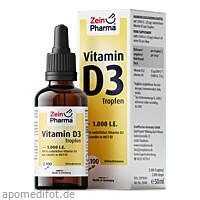 Vitamin D3 Tropfen 1000 IE 2100Tropfen ZeinPharma, 50 ML, Zein Pharma - Germany GmbH