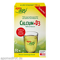 APODAY Calcium+D3 Zitrone-Limette zuckerfr. Pulv., 10X5 G, Wepa Apothekenbedarf GmbH & Co. KG
