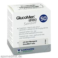 GLUCOMEN areo Sensor Teststreifen, 50 ST, Pharma Gerke Arzneimittelvertriebs GmbH