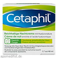 CETAPHIL Reichhaltige Nachtcreme mit Hyaluronsäure, 48 G, Galderma Laboratorium GmbH