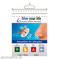 Filter Your Life Größe L Nasenfilter f. Allergiker, 7X2 ST, Imp GmbH International Medical Products
