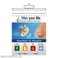 Filter Your Life Größe S Nasenfilter f. Allergiker, 7X2 ST, Imp GmbH International Medical Products