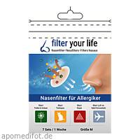 Filter Your Life Größe M Nasenfilter f. Allergiker, 7X2 ST, Imp GmbH International Medical Products