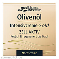 Olivenöl Intensivcreme Gold ZELL-AKTIV Nachtcreme, 50 ML, Dr. Theiss Naturwaren GmbH