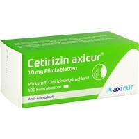 Cetirizin axicur 10 mg Filmtabletten, 100 ST, Axicorp Pharma GmbH