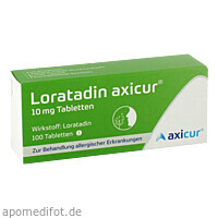 Loratadin axicur 10 mg Tabletten, 100 ST, Axicorp Pharma GmbH