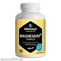 Magnesium 350mg Komplex Citrat Oxid Carbonat vegan, 180 ST, Vitamaze GmbH