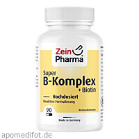 Super B-Komplex + Biotin ZeinPharma, 90 ST, Zein Pharma - Germany GmbH