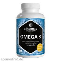 Omega 3 1000 mg EPA 400 DHA 300 hochdosiert, 90 ST, Vitamaze GmbH
