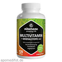 Multivitamin Kapseln hochdosiert, 120 ST, Vitamaze GmbH