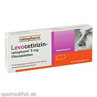 Levocetirizin-ratiopharm 5 mg Filmtabletten, 20 ST, ratiopharm GmbH