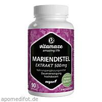 Mariendistel 500 mg Extrakt hochdosiert vegan, 90 ST, Vitamaze GmbH