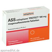 ASS -ratiopharm PROTECT 100 mg magensaftres. Tabl., 100 ST, ratiopharm GmbH