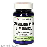 CRANBERRY PLUS D-MANNOSE GPH KAPSELN, 60 ST, Hecht-Pharma GmbH