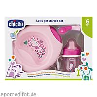 Geschenkset Mahlzeit 4 tlg. pink CHICCO, 1 ST, Habitum Pharma