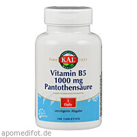 Vitamin B 5 1000mg Pantothensäure, 100 ST, Supplementa Corporation B.V.