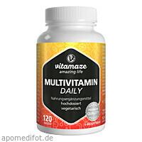 Multivitamin Daily ohne Jod vegetarisch, 120 ST, Vitamaze GmbH