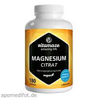 Magnesiumcitrat 360mg vegan, 180 ST, Vitamaze GmbH